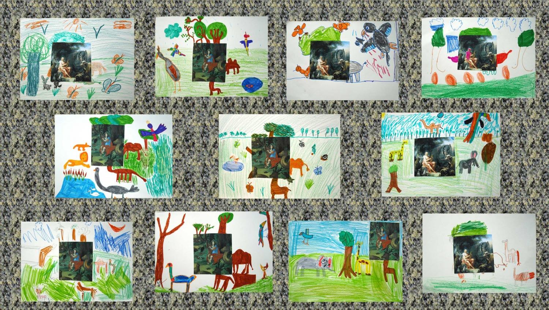 Super Orphée et les animaux - Atelier d'arts plastiques pour enfants UY55