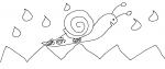 Dessin comptine escargot