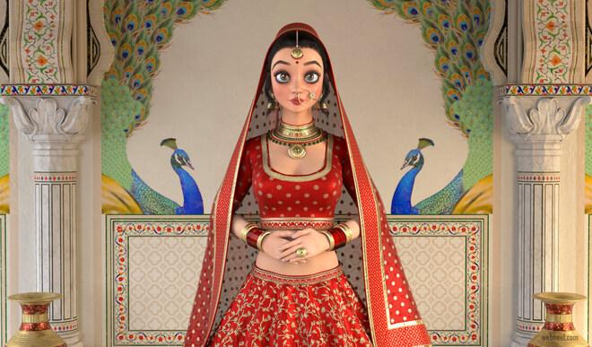 3d model indian princess