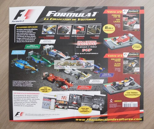 N° 1 Formula 1 la collection de voitures - Lancement