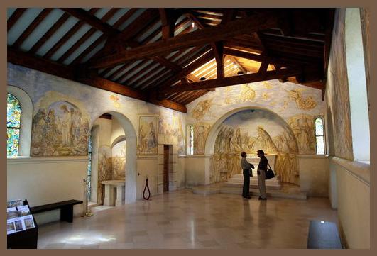 intérieur chapelle foujita