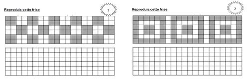 """Annexe CE1 """"Les frises géométriques"""""""