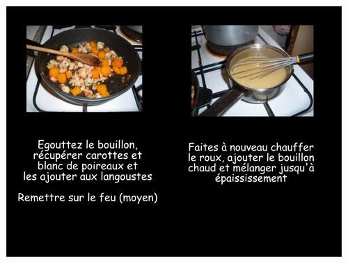 BLANQUETTE DE LANGOUSTE ou crevettes ou poissons