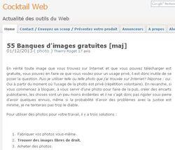 Blog qui recense des images libres de droit.