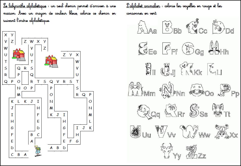 Fiche ce1 alphabet