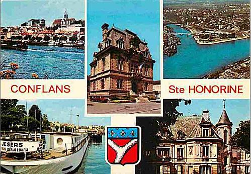 Capture conflans carte postale