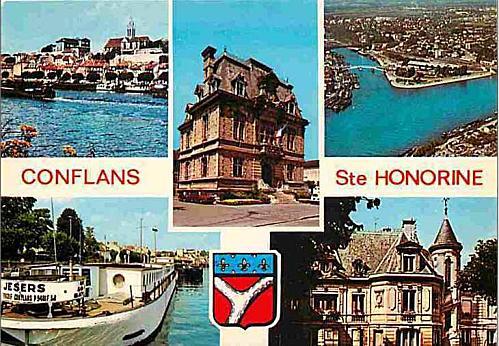 Capture conflans carte postale