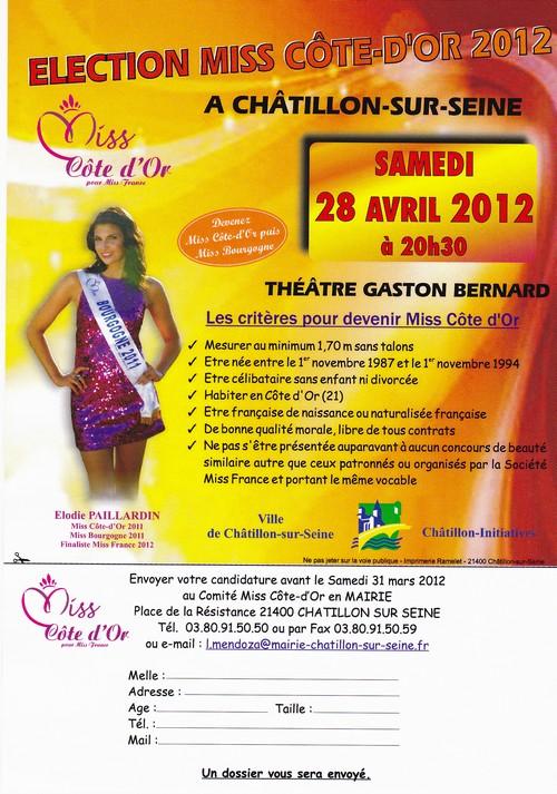 Et c'est reparti pour la prochaine élection de Miss Côte d'Or à Châtillon sur Seine...
