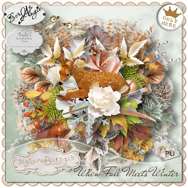 """""""When Fall Meets Winter"""" by Scrap'Angie and Ilonka's Scrapbook Designs"""