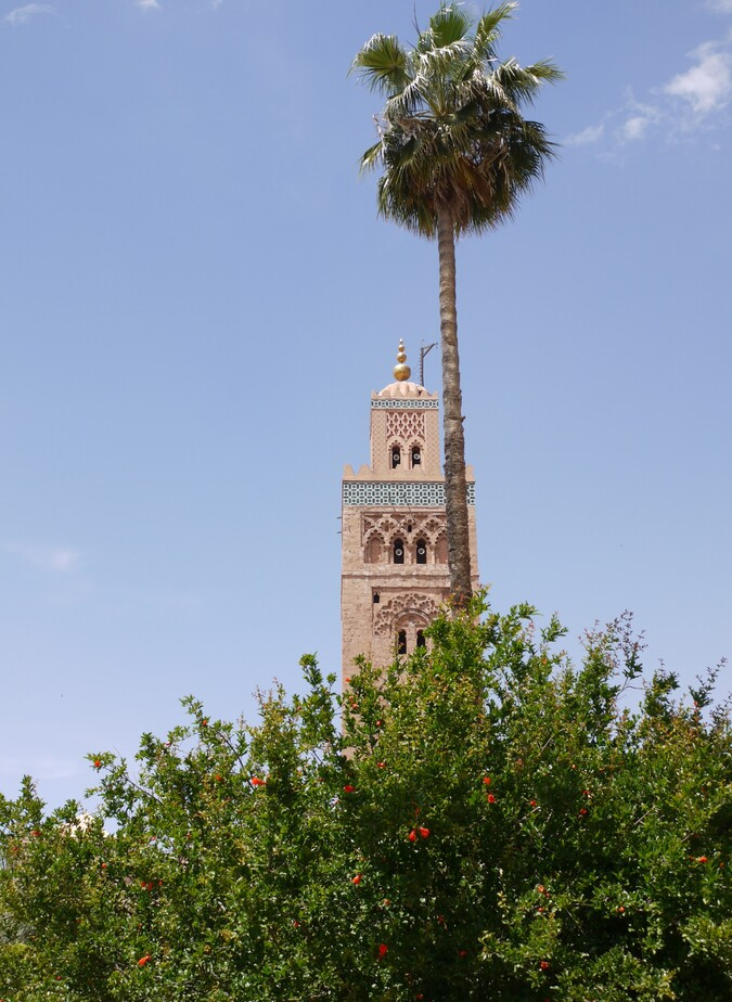 Marrakech - place Jemaa el Fna - Koutoubia