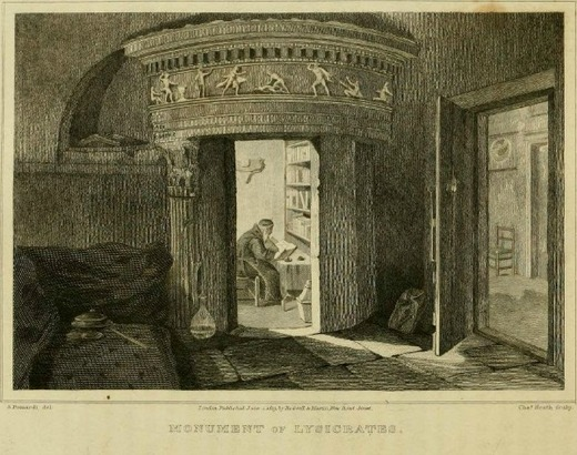 Le monument de Lysicrate et les moines Capucins