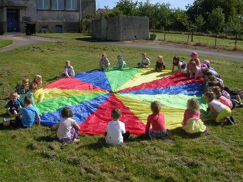 Parachute en extérieur