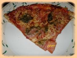 Pizza jambon / beurre d'escargots
