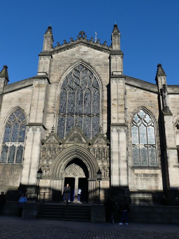 La cathédrale Saint-Gilles à Edimbourg...