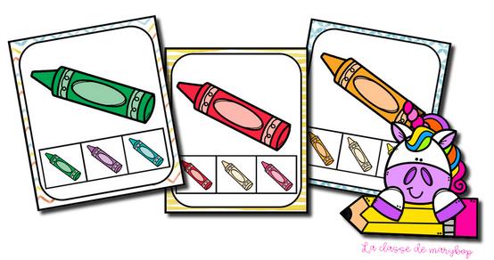 Cartes à pinces - Les couleurs