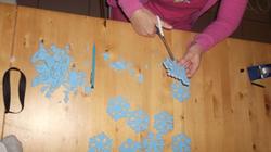 Reine des neiges préparatifs des ateliers créatifs