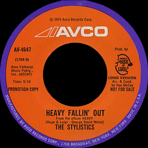 "The Stylistics : Album "" Heavy "" Avco Records AV-69004-698 [ US ]"