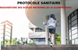 Réouverture écoles : projet de protocole
