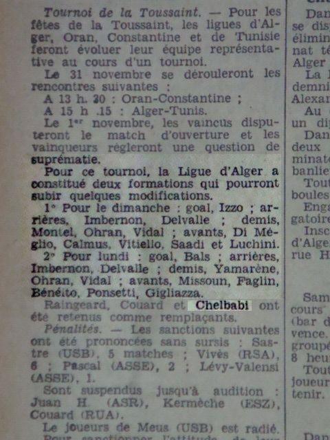 Sélection d'Alger