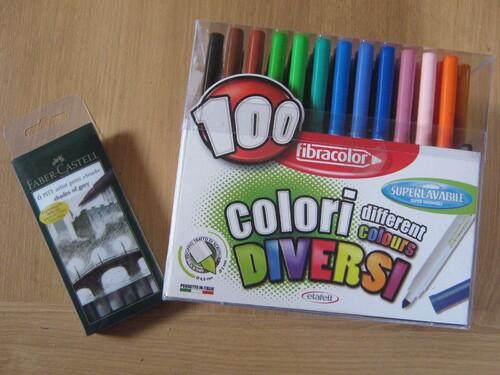 Mes derniers achats en crayons et feutres