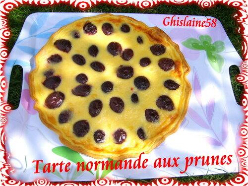 Tarte normande aux prunes