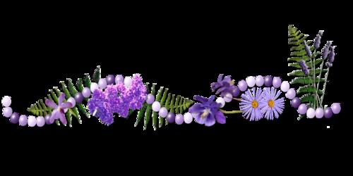 Barre de séparations couleur lilas