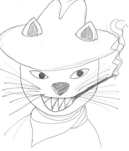 le chat croquis Sylvie 3