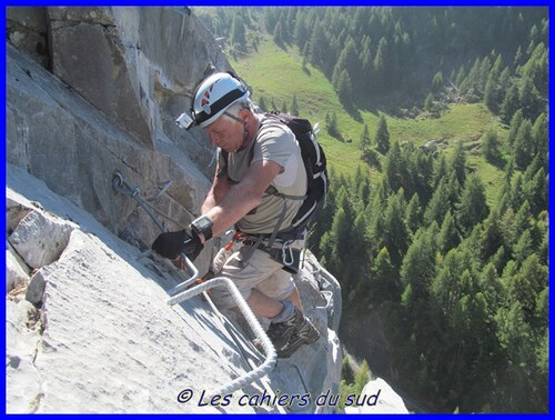 La via ferrata d'Ancelle