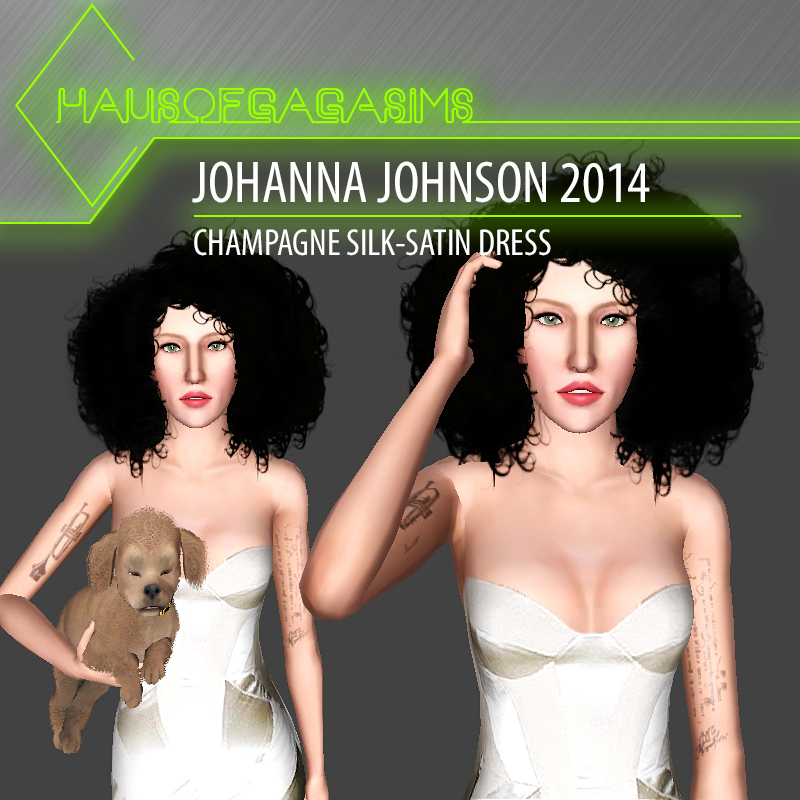 JOHANNA JOHNSON 2014 CHAMPAGNE SILK-SATIN DRESS