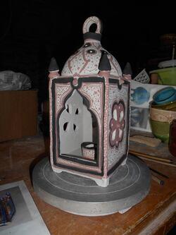 - Reconstitution d'une aiguière et d'une lanterne arabes médiévales