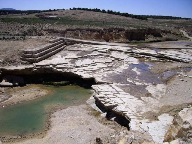 Oued Haïdra vue de la Citadelle, lieu idéal pour un pique-nique