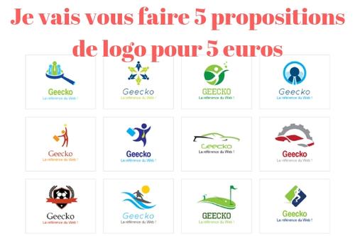 Je vais créer et vous faire 5 propositions de logo pour 5 €