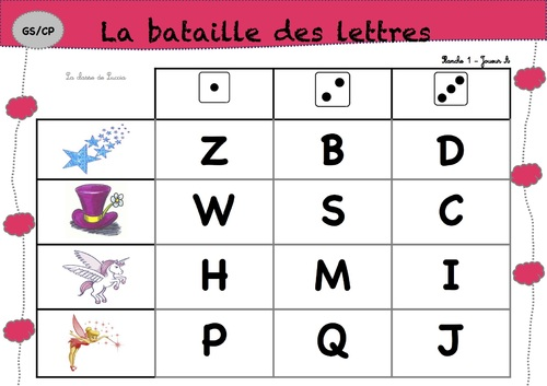 Bataille des lettres Script/cursives