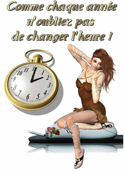 CHANGEMENT D'HEURE.....