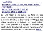 2004 Supercoupe d'Afrique MCA-ES Tunis 18-13