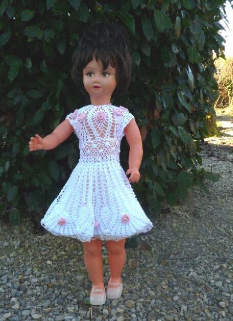 Pierrette: poupée de foire de 80 cms