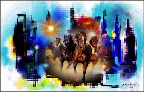 Les chevaux dans la ville