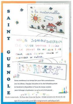 23 mai 16H: Invitation temps fort en maternelle