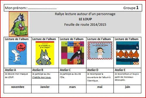 Rallye lecture PS/MS autour du LOUP