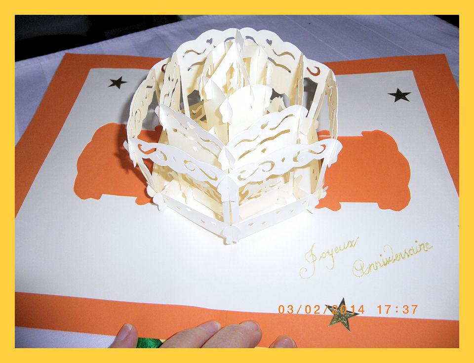 carte kirigami carousel