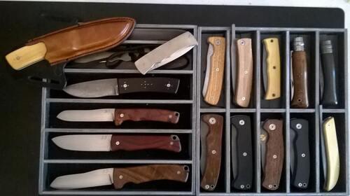 Les couteaux entièrement faits mains