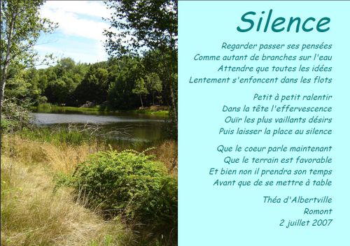 Silence - Théa d'Albertville