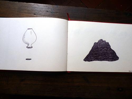 Carnet (dessins d'espaces, 6)...