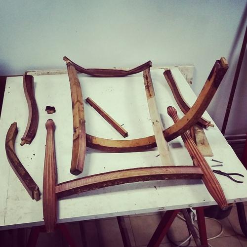 Démontage d'un fauteuil art déco