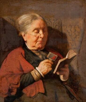 08 - Les vieilles dames lisant- Peintures