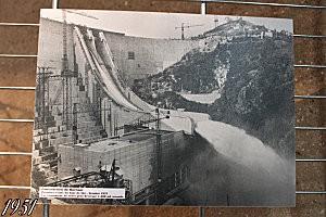 château de Val -14- construction du barrage de Bort