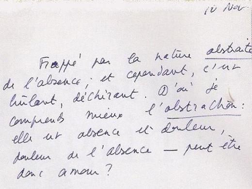 Roland Barthes, Journal de deuil
