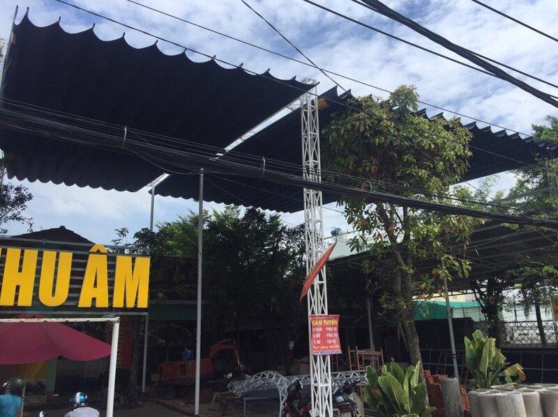 Mái xếp quán cafe đẹp 2019