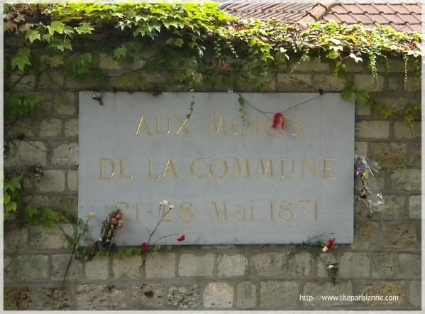 Mur des Fédérés Père Lachaise 3