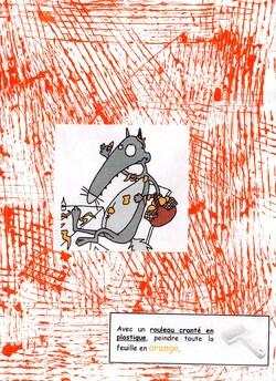 Cahier de traces et d'empreintes avec Loup